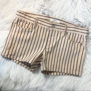 Loft Striped Jean Shorts